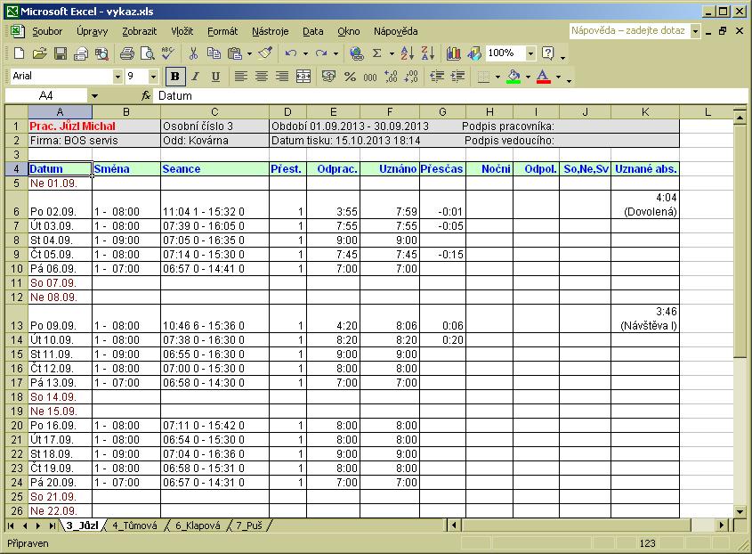 Bm Software Dochazkovy System Dochazka 3000 Webshop